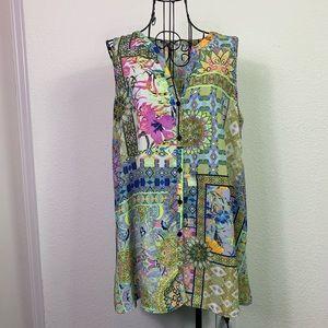 Spense sleeveless print blouse